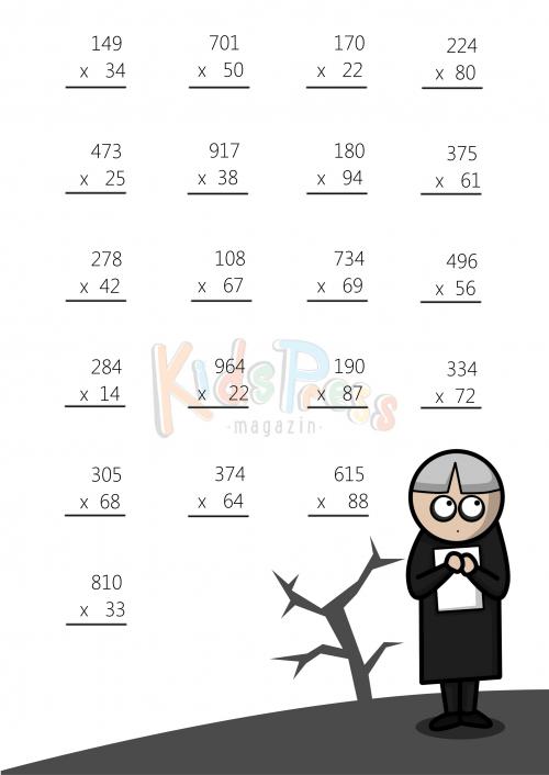 3 Digit By 2 Digit Multiplication Worksheet 3