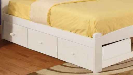 white twin bunk bed trundle - bella flower- kidsroom.vip