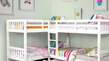 """Hannah Quadruple"" Twin Bunk Bed with Trundle ""3 Colors"""