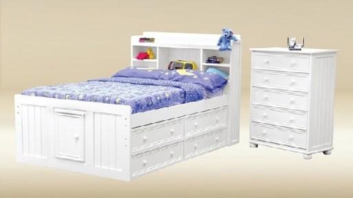 """Captain MacKenzie"" Full Captains Bed – 3 Colors"