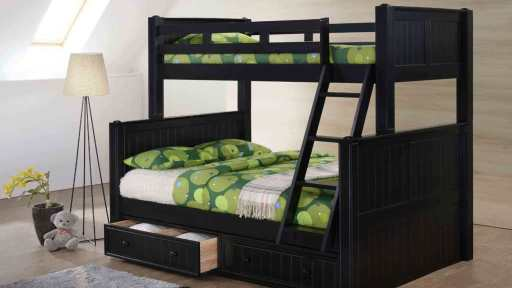 """Angel Phoenix"" Twin Full Bunk Bed w/ Storage ""7 Colors"""