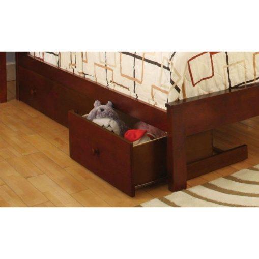 Espresso Bunk Bed Twin Over Full- kidsroom.vip