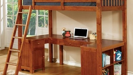 """The Skylar"" Twin Loft Bed Workstation – 2  Colors – COMING MID-NOVEMBER!"