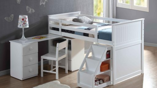 """""""Allison Wonderland"""" White Junior Loft Bed"""
