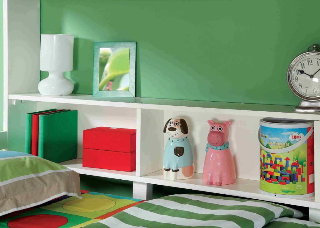 twin over twin bed with shelf storage- kidsroom.vip