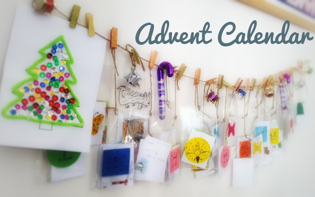 Our Hand-made Advent Calendar with Activities!