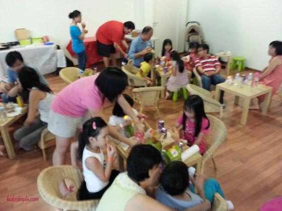 Kids having Happy Meals