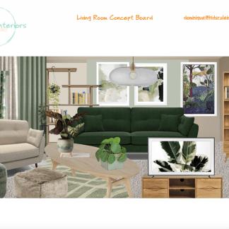 New build living room concept board