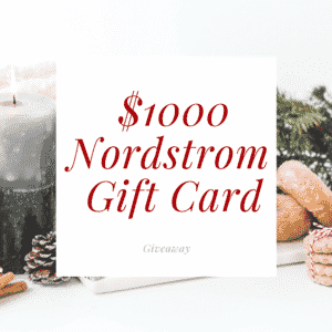 Win $1000 Nordstrom Gift Card