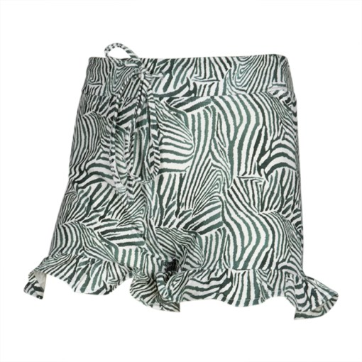 short zebra print kie stone