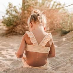 bikini ruitjes ruches