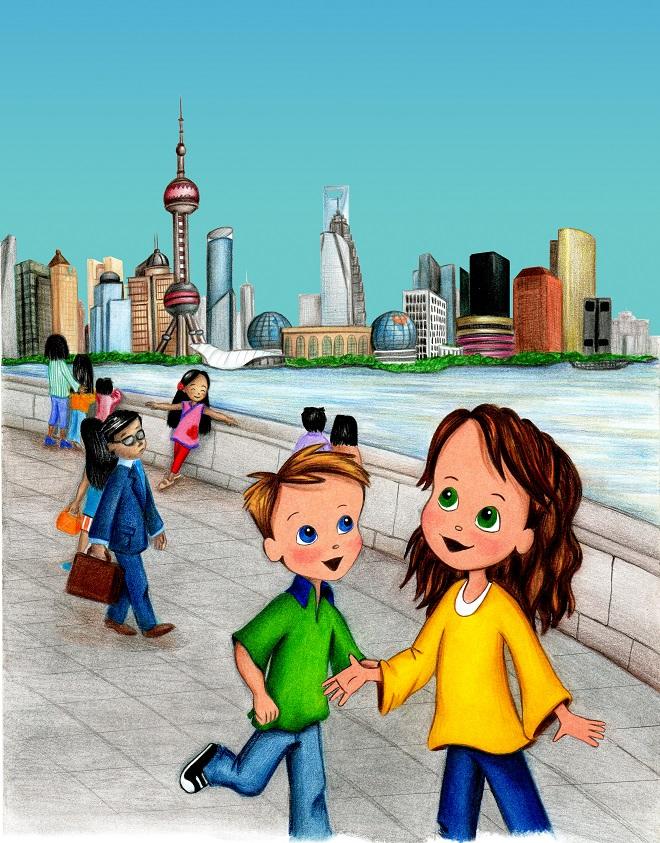 Molly Goes to Shanghai Skyline