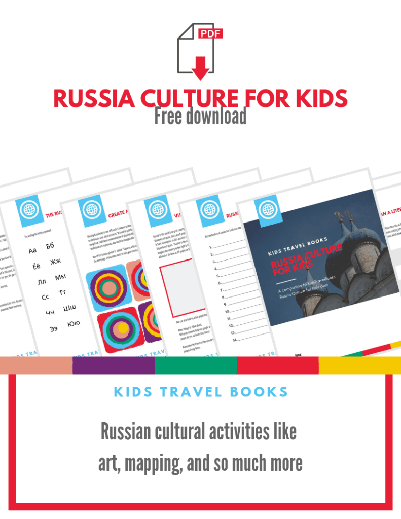 13 pages of Russian-related culture for kids download - FREE