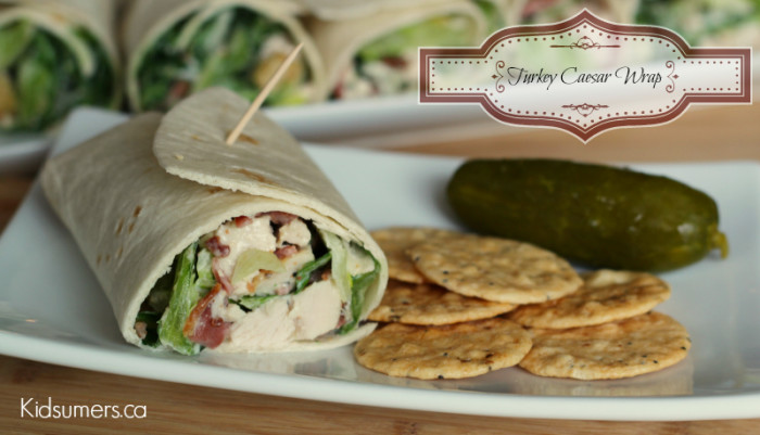turkey caesar wrap done