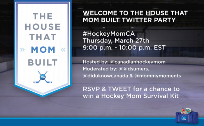 PG Hockey Mom Twitter Party Promo Banner