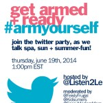 Join the #armyourself Twitter Party June 19th 1pm EST