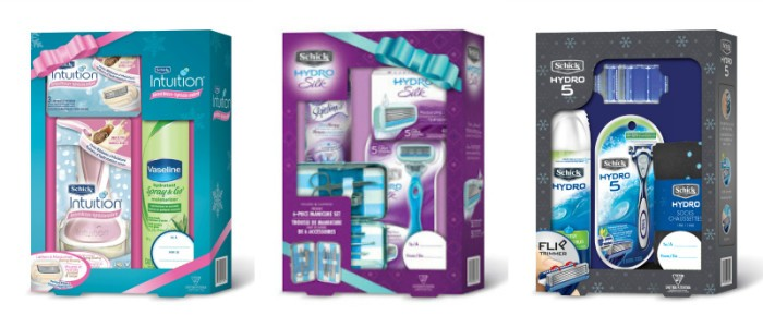 schick holiday packs