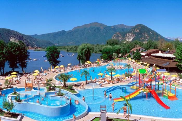 Camping Village Isolino, Lago Maggiore, Italië