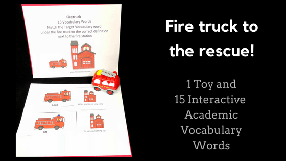 Firetruck Comes To The Rescue Kids Vocabulary
