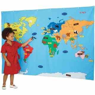 FAO Schwarz Big Map- Kid World Citizen