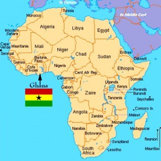 Map of Ghana- Kid World Citizen