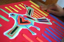 Kids Making Mola Art Project- Kid World Citizen