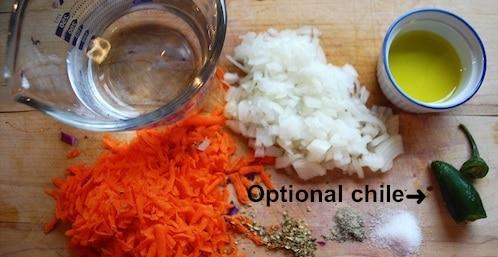 Curtido Recipe Ingredients- Kid World Citizen
