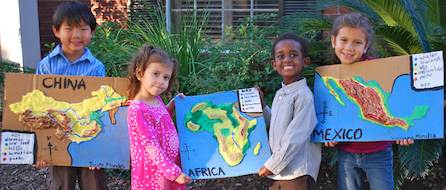 Kids with 3D Salt Dough Maps- Kid World Citizen