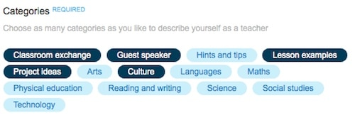 Categories on Skype in the Classroom- Kid World Citizen