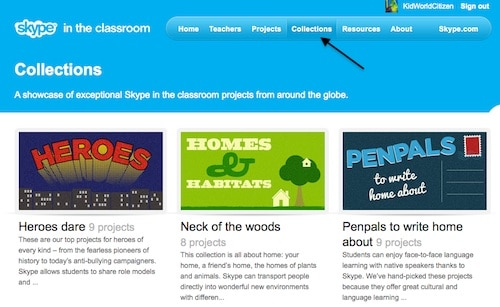 Collections of Projects Skype in the Classroom- Kid World Citizen