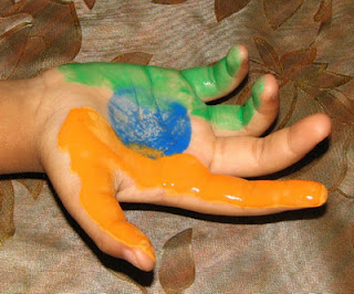 Handprint India Flag- Kid World Citizen