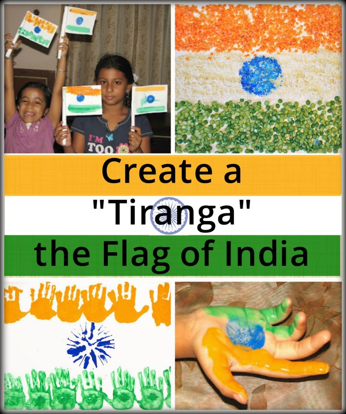Flag of India Crafts- Kid World Citizen