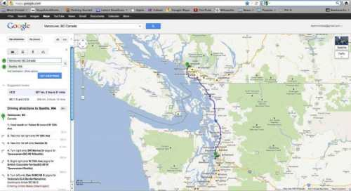 Vancouver to Seattle Map- Kid World Citizen