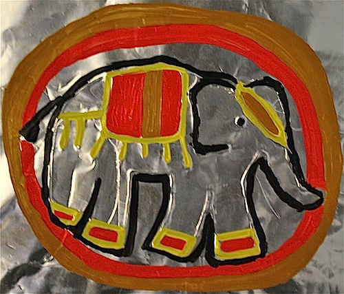 Asian Elephant Painting Craft- Kid World Citizen