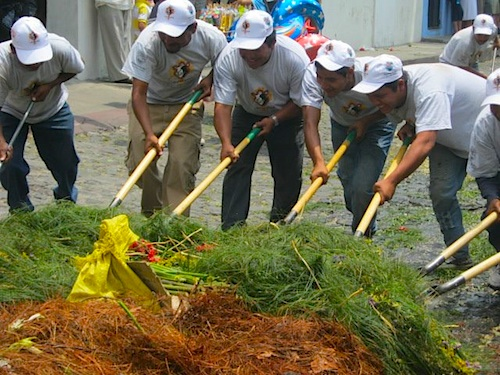 Cleaning Up After Holy Week Processions- Kid World Citizen