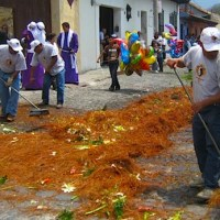 "Photos of Guatemalan ""Alfombras:"" Street Decorations for Holy Week"