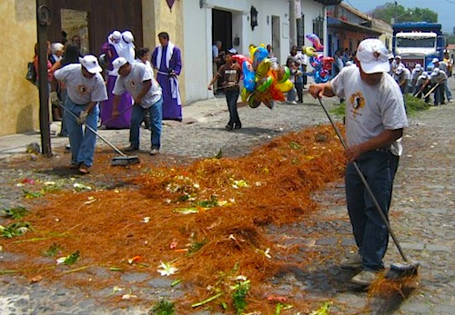 Cleaning Up After Processions- Kid World Citizen