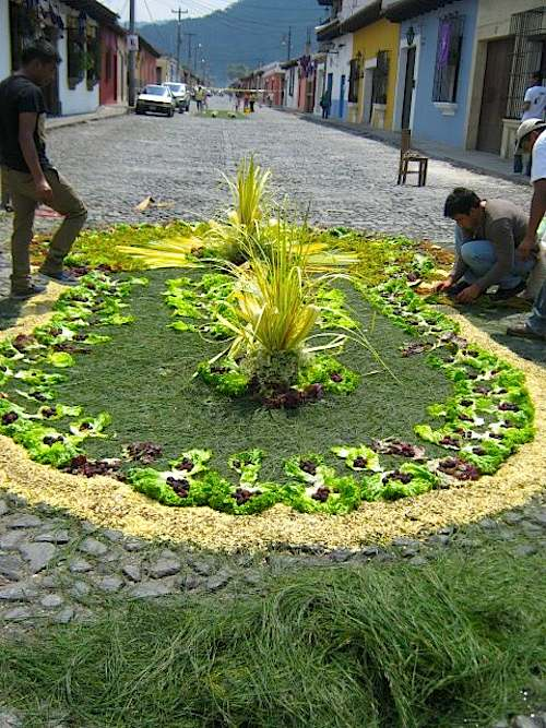 Antigua Guatemala Alfombra Easter- Kid World Citizen