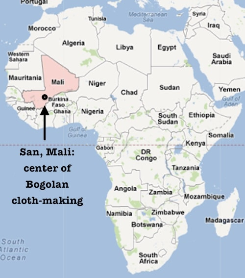 Mali Map of Bogolan Mud Cloths- Kid World Citizen