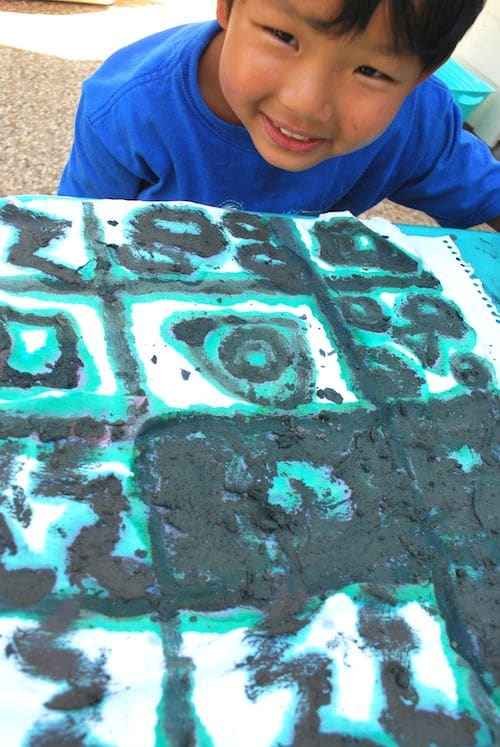 Kids Making a Mud Cloth Craft- Kid World Citizen