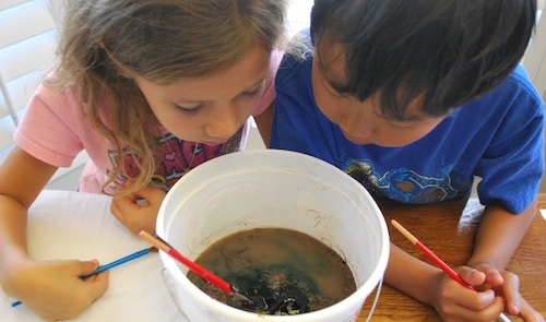 Mixing the Mud Paint- Kid World Citizen