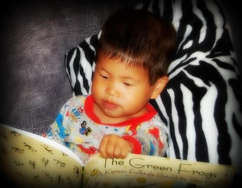 Boy Reading Korean Folktales- Kid World Citizen