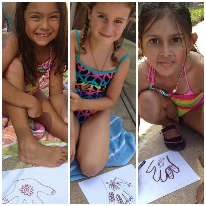 Henna Hands Craft Kids Art- Kid World Citizen