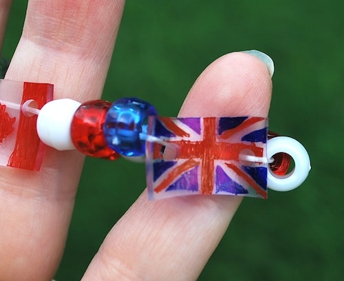 British Flag Shrinky Dink- Kid World Citizen