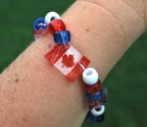Shrinky Dink Flag Bracelets- Kid World Citizen