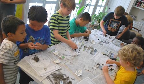 Boys Dissecting Owl Pellets- Kid World Citizen