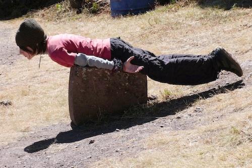 Miro Planking at Ruins- Kid World Citizen