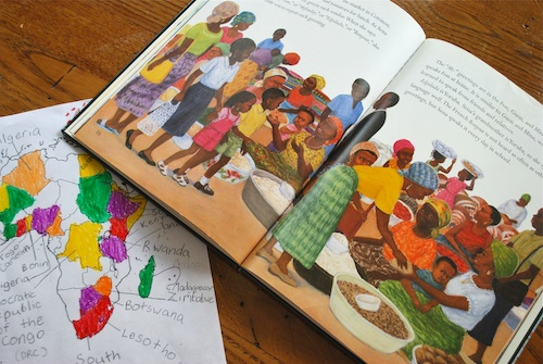 Mapping the Book Africa- Kid World Citizen