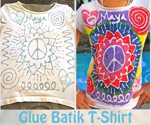 Glue Batik Tshirt Kids- Kid World Citizen