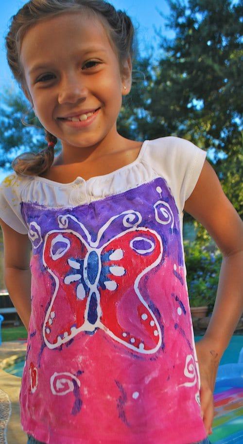 Kids Painting Tshirts Batik- Kid World Citizen